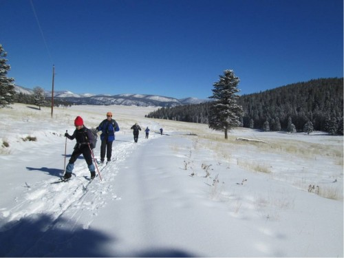 Skiing the Road N of South Mtn