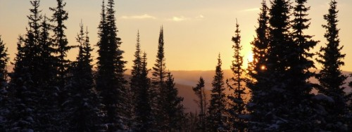 Hut Sunset
